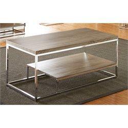 Steve Silver Lucia Coffee Table in Gray and Brown