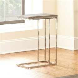 Steve Silver Lucia Chairside End Table in Gray and Brown
