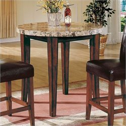 Steve Silver Montibello 3pc Round Pub Dining Set in Cherry