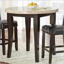 Steve Silver Monarch 3pc Marble Top Round Counter Dining Set