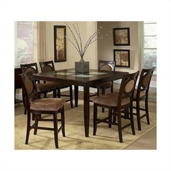 Steve Silver Montblanc 5pc Pub Dining Room Set in Merlot