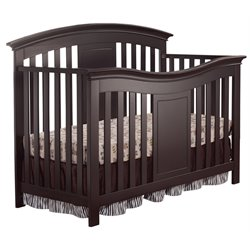 Sorelle Yorkshire 4 in 1 Convertible Wood Crib in Espresso