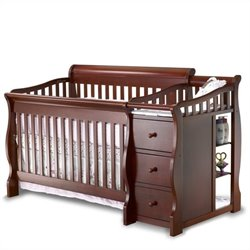 Sorelle Tuscany & More 4-in-1 Convertible Crib and Changer Set in Cherry