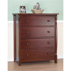 Sorelle Princeton 4 Drawer Dresser in Cherry