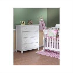 Sorelle Princeton 4 Drawer Dresser in White