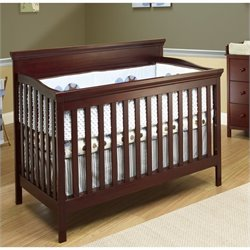 Sorelle Katherine 4 In 1 Crib with Mini Rail in Merlot