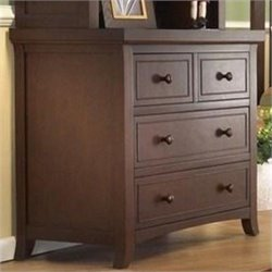 Sorelle Alex 3 Drawer Chest in Mocha Cafe