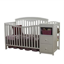 Sorelle Presley Crib and Changer in White