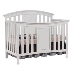 Sorelle Yorkshire 4 in 1 Convertible Wood Crib in White