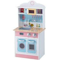 Teamson Kids Pastel Little Chef Play Kitchen in Multi Color