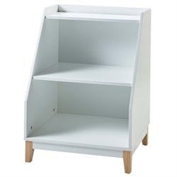 Versanora Pulire 3 Shelf Bookcase in White and Natural
