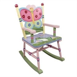 Fantasy Fields Hand Painted Magic Garden Rocking Chair