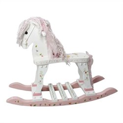 Fantasy Fields Hand Carved Princess and Frog Rocking Horse