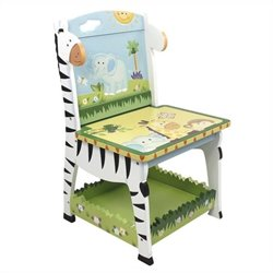 Fantasy Fields Hand Carved Sunny Safari Wooden Chair