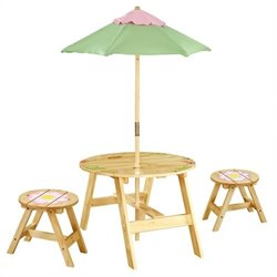 Fantasy Fields Magic Garden Outdoor Table and Set of 2 Chairs