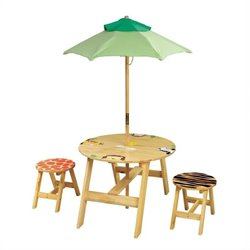 Fantasy Fields Sunny Safari Outdoor Table and Set of 2 Chairs