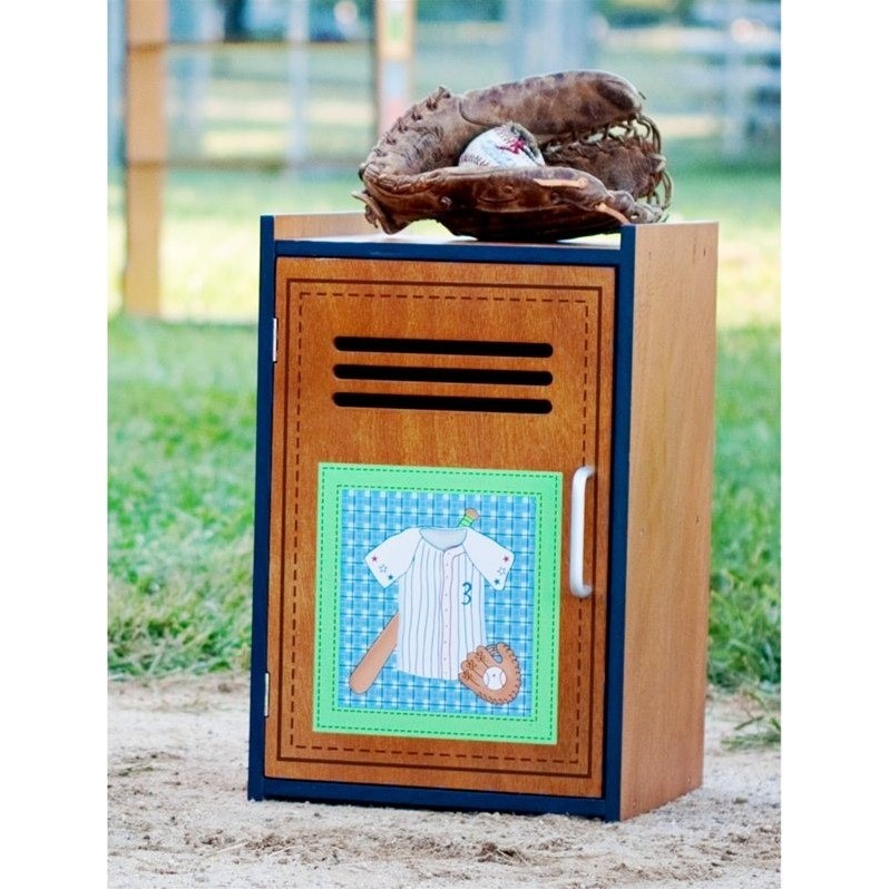 Fantasy Fields Hand Carved Little Sports Fan Small Cabinet