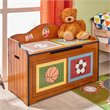 Fantasy Fields Hand Carved Little Sports Fan Toy Chest