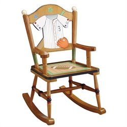 Fantasy Fields Hand Carved Little Sports Fan Rocking Chair