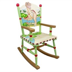 Fantasy Fields Hand Painted Dinosaur Kingdom Rocking Chair
