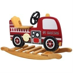 Teamson Kids Trains and Trucks Fire Engine Rocker