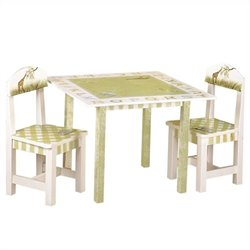 Fantasy Fields Hand Painted Alphabet Table and Set of 2 Chairs