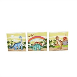 Fantasy Fields Dinosaur Kingdom Canvas Wall Art Set