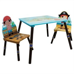 Fantasy Fields Pirates Island Table and 2 Chairs - Set A