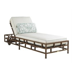 Tommy Bahama Ocean Club Resort Patio Chaise Lounge in White