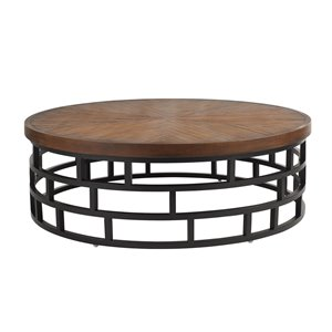 Tommy Bahama Ocean Club Resort Round Patio Coffee Table in Sienna