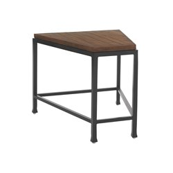 Tommy Bahama Ocean Club Pacifica Patio Wedge End Table in Sienna