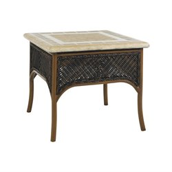 Tommy Bahama Island Estate Lanai Patio End Table in Rich Tobacco