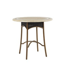 Tommy Bahama Island Estate Lanai Patio Pub Table in Ivory