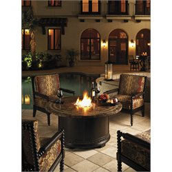 Tommy Bahama Kingstown Sedona 5 Piece Patio Fire Pit Set in Ebony