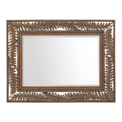 Tommy Bahama Bali Hai Seabrook Landscape Mirror in Warm Brown