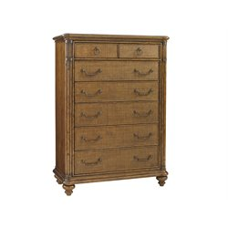 Tommy Bahama Bali Hai Tobago 7 Drawer Chest in Warm Brown