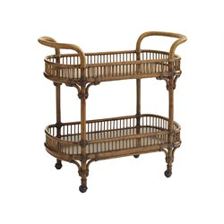 Tommy Bahama Bali Hai Veranda Bar Cart in Warm Brown