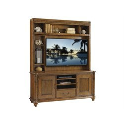 Tommy Bahama Bali Hai Pelican Cay Entertainment Center in Warm Brown