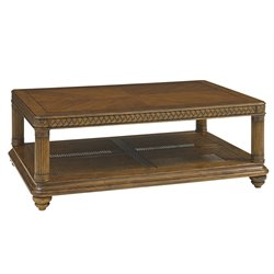 Tommy Bahama Bali Hai Vineyard Point Coffee Table in Warm Brown