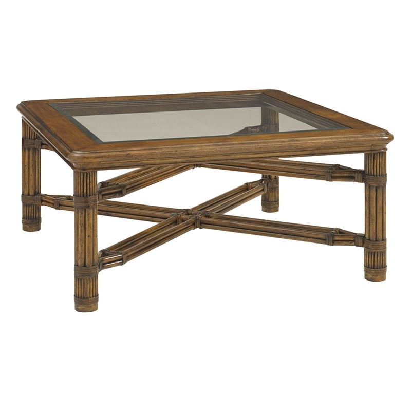 Tommy Bahama Bali Hai Capri Square Coffee Table In Warm Brown 593 947