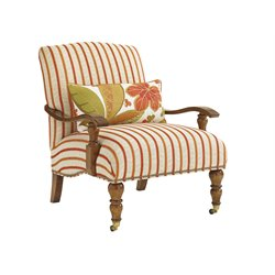 Tommy Bahama Bali Hai San Carlos Chair in Red Stripe On Beige
