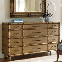 Tommy Bahama Twin Palms 12 Drawer Dresser in Brown