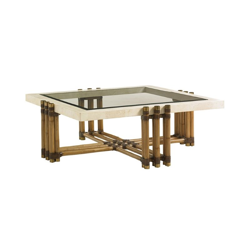 Tommy Bahama Twin Palms Weston Square Coffee Table In Brown 558 947