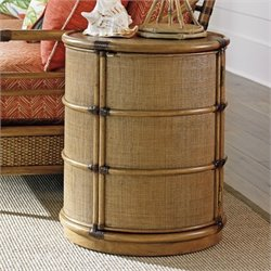 Tommy Bahama Twin Palms Cassada Drum Table in Brown