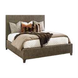 Tommy Bahama Cypress Point Woven Platform Bed in Gray-SH