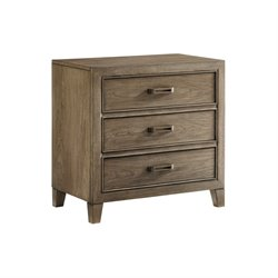 Tommy Bahama Cypress Point 3 Drawer Nightstand in Gray
