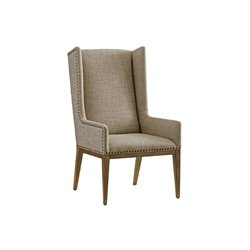 Tommy Bahama Cypress Point Dining Chair in Gray and flax