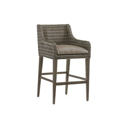 Tommy Bahama Cypress Point Woven Bar Stool in Gray-SH