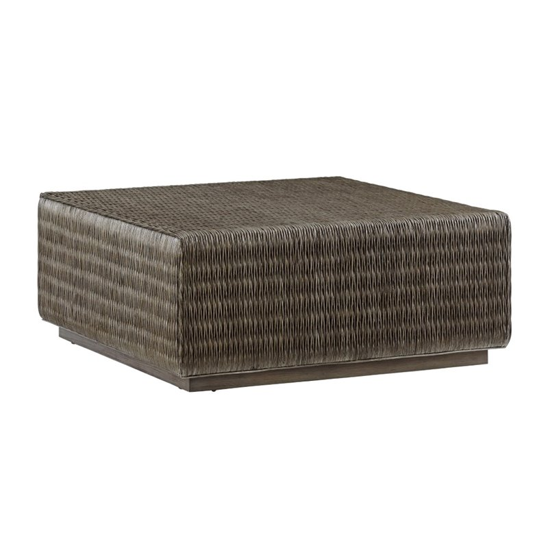 Tommy Bahama Cypress Point Woven Coffee Table In Gray 562 947