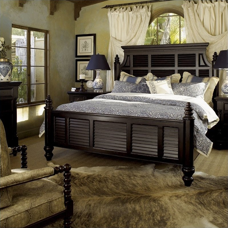 Tommy Bahama Home Kingstown Malabar Panel Bed in Tamarind